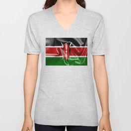 Kenya Flag Unisex V-Neck