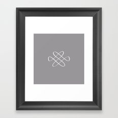 Infinity Knot - Minimal FS - by Friztin Framed Art Print
