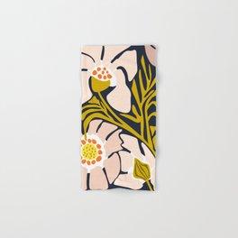 Backyard flower – modern floral illustration Hand & Bath Towel