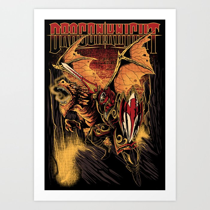 Dragon Knight Art Print