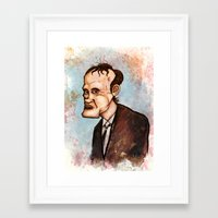 quentin tarantino Framed Art Prints featuring Quentin Tarantino by Grant Hunter