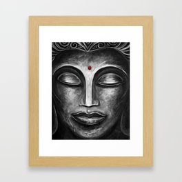 Feminine Buddha Face Art Print Framed Art Print