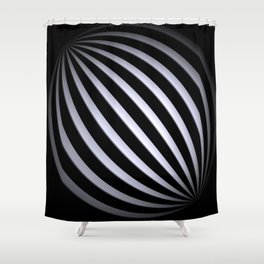 black-and-white -04- Shower Curtain