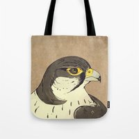 millenium falcon Tote Bags featuring Falcon by Lynette Sherrard Illustration and Design