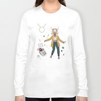 taurus Long Sleeve T-shirts featuring Taurus by LordofMasks