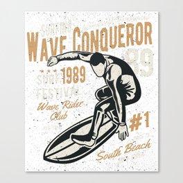 Wave Conqueror Canvas Print