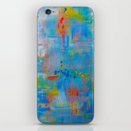 Colorful Abstract Wall Art, Vibrant colors, Contemporary home decor iPhone Skin