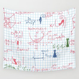 Cats in maths Wall Tapestry