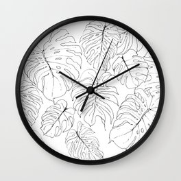 Monstera Deliciosa (Delicious Monster Leaves) Wall Clock