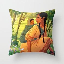 Sacagawea Throw Pillow