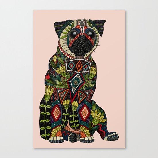 pug love pale dogwood Canvas Print