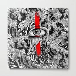 Red inked Eye Metal Print