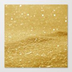 Glitter Gold Canvas Print