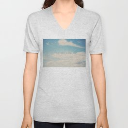 i'm at home in the clouds ... Unisex V-Neck