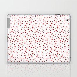 PolkaDots-Red on White Laptop & iPad Skin