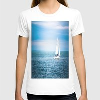 sailboat T-shirts featuring Howth sailboat by Alyson Cornman Photography