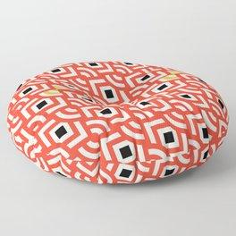 Round Pegs Square Pegs Red-Orange Floor Pillow