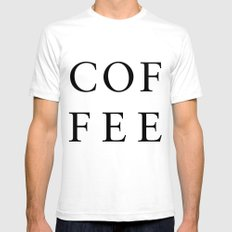 #COFFEE Mens Fitted Tee White SMALL