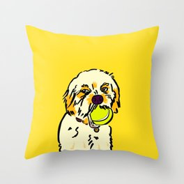 Ralph the Cavapoo Throw Pillow