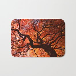 Ephemeral - Fall Maple Leaves, Nature Photography Bath Mat