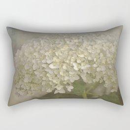 White Hydrangea Rectangular Pillow