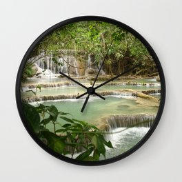 Zen Waterfalls Harmony #2 Wall Clock