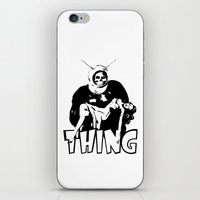 the thing iPhone & iPod Skins featuring THING by Taylor Bissett