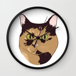 Spotted Tabby Wall Clock