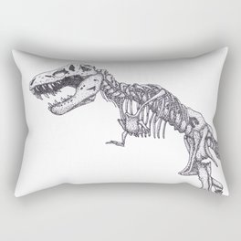 Tyrannosaurus rex skeleton Rectangular Pillow