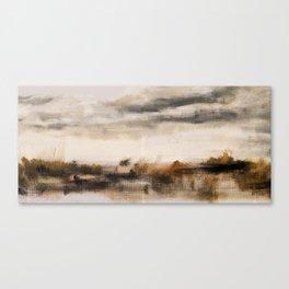 Steppe landscape Canvas Print