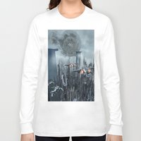 sci fi Long Sleeve T-shirts featuring Sci-Fi City by Michael Lenehan