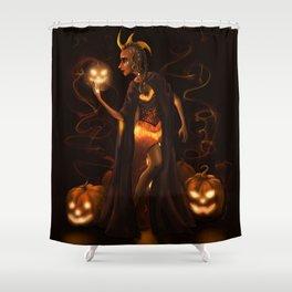 The Pumpkin Queen Shower Curtain
