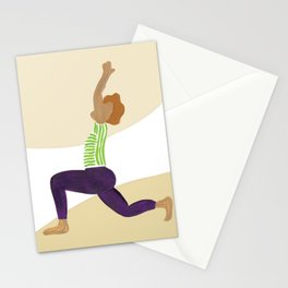 Crescent Moon Yoga Pose Stationery Cards