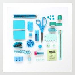 Turquoise Color Study Art Print