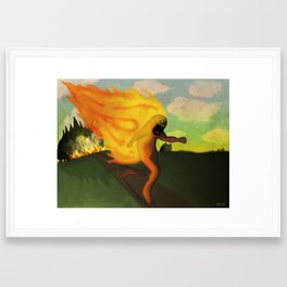 Corriendo Framed Art Print