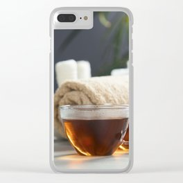 tea and spa composition Clear iPhone Case
