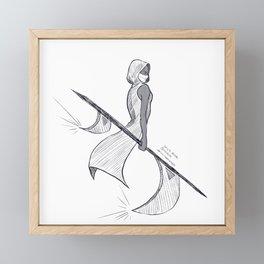 """""""Blade"""" 2020 Inktober Day 5 [Line Art] Framed Mini Art Print"""