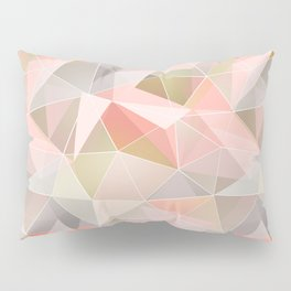 Broken glass in warm colors. Pillow Sham