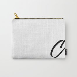 Letter C Ink Monogram Carry-All Pouch