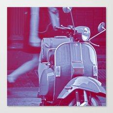 scooter violet tonton AL Canvas Print