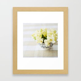 Spring in a cup Framed Art Print