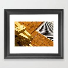 Construction Grid Framed Art Print