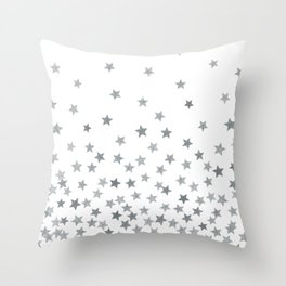 STARS SILVER Throw Pillow