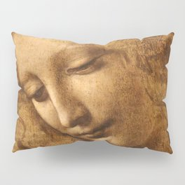 Head of a Woman Painting by Leonardo da Vinci Pillow Sham