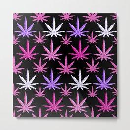 Weed Garden Pink Purple Metal Print