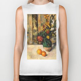 "Paul Cezanne ""Fleurs et pommes (Flowers and fruits)"" Biker Tank"