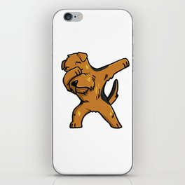 Funny Dabbing Airedale Terrier Dog Dab Dance iPhone Skin