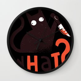 Killer cat Wall Clock