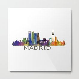 Madrid City Skyline HQ Metal Print