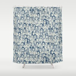 WOMEN OF THE WORLD BLUE Shower Curtain